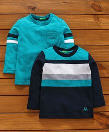 UCB Full Sleeves Tees Stripes Pattern - Blue