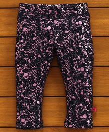 UCB Full Length Printed Pant - Pink Black