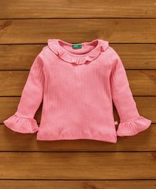 UCB Full Sleeves Solid Color Top - Pink