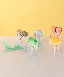 Animal Figurines Set Pack of 6 - Multicolor