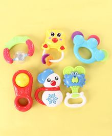 Baby Rattle Set Pack of 6 - Multicolor