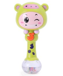 Single Stick Musical Rattle Toy - Green