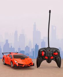 Remote Control Transformer Toy Car - Orange