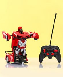 Remote Control Transformer Toy Car - Red