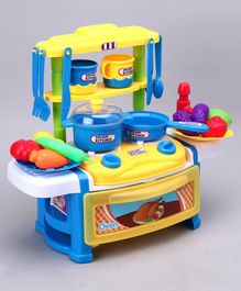 Kitchen Table Pretend Play Set - Yellow