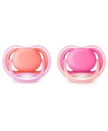 Avent Soother Pack of 2 - Pink peach