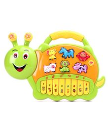Snail Shaped Toy Piano - Green