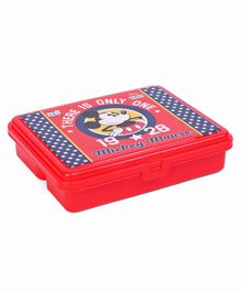 Disney Mickey Mouse Lunch Box With Fork Spoon - Red