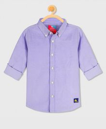Cherry Crumble California Full Sleeves Solid Shirt - Purple