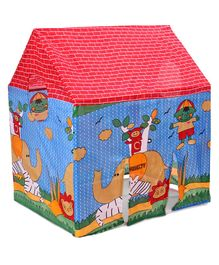 Kids Zone Jungle Tent House Play Set Animal Print - Blue