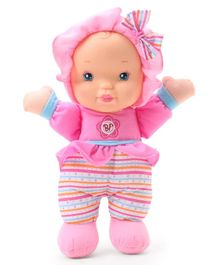 Baby's First Kisses Striped Doll pink - Height 33 cm