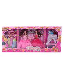 Fashion Doll Set With Accessories Multicolor - 17 Pieces