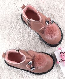 Kidlingss Pom Pom Detailed Ankle Boots - Light Pink