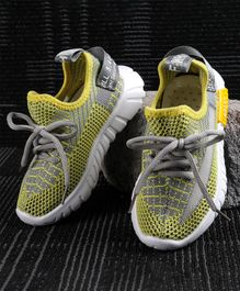 Kidlingss Lace-Up Sports Shoes - Yellow