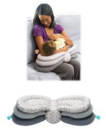 Bembika Newborn Nursing Pillow With Multiple Layer - Grey