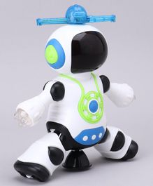 Gooyo Dancing Robot Toy for Kids With 3D Lights & Music - White