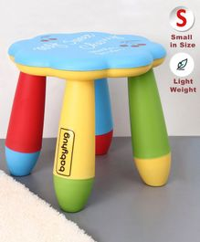 Babyhug Kids Stool Floral Design - Blue Multicolor