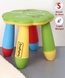 Babyhug Kids Stool Floral Design - Green Multicolor