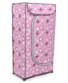 Storage Unit With 3 Shelves - Light Pink