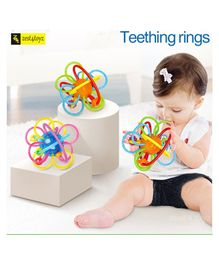 Zest 4 Toyz Funny Baby Learning Toy Intelligence Baby Teether Rings - Multicolor