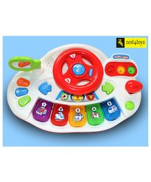 Zest 4 Toyz Battery Operated Funny Car Wheel With Lights and Music- Assorted Color