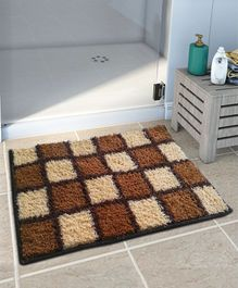 Athom Trendz Easy Home Designer Soft Anti Slip Bath Mat - Multicolor