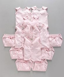 Ohms Organic Cotton Infant Clothing Gift Set Pink - Pack of 12