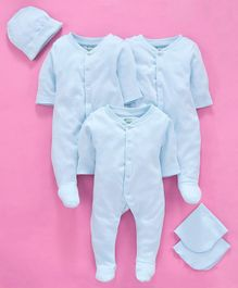 Ohms Organic Cotton Infant Clothing Gift Set Blue - Pack of 6