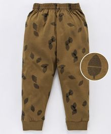 Doreme Full Length Lounge Pant Leaf Print - Brown