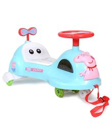 Happykids Ride On Swing Car With Music & Lights - Blue