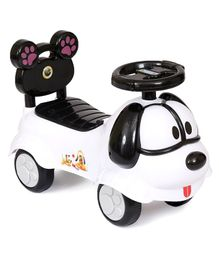 Happykids Foot To Floo Ride On Car With Music and lights - White