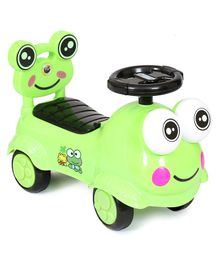 Happykids Foot To Floo Ride On Car With Music and lights - Green