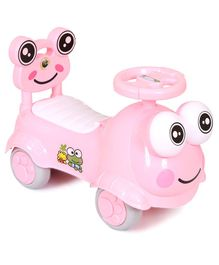 Happykids Foot To Floo Ride On Car With Music and lights - Pink