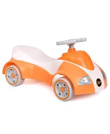 Happykids Foot To Floo Ride On Car With Music and lights - White Orange