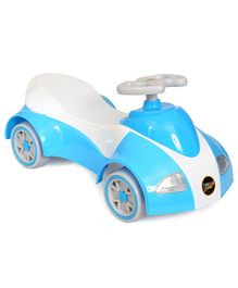 Happykids Foot To Floo Ride On Car With Music and lights - White Blue