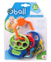 Kids II Oball Grip And Teethe Keys - Multi Color