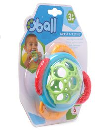 Kids II Oball Teether Rattle Toy - Multicolor