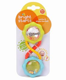 Kids II Bright Starts Barbell Rattle - Multicolor