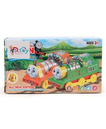 Dr.Toy Battery Operated 4D Flash Electric Train Engine Toy With Lights & Sound - Red
