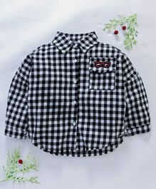 Lekeer Kids Full Sleeves Checks Shirt - Black
