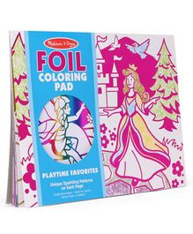 Melissa & Doug  Playtime Foil Colouring Pad Multicolor - 14 Pages