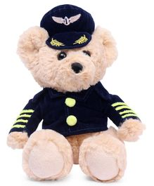 Benny & Bunny Teddy Bear In Captain Costume Beige - Height 19 cm