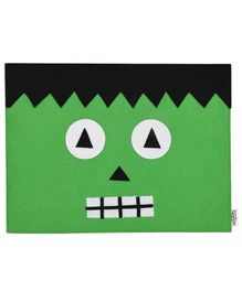 Li'll Pumpkins Halloween Monster Place Mat - Green & Black