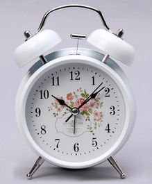 Round Shape Alarm Clock - White