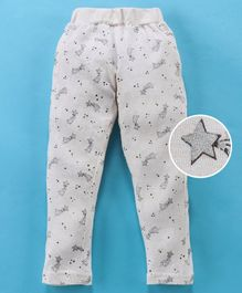 Fido Full Length Lounge Pant Star Print - White