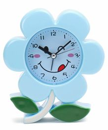 Flower Shape Alarm Clock - Blue