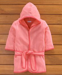 OHMS Hooded Bathrobe - Pink