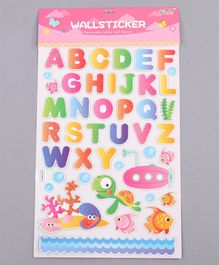Alphabet Theme Wall Sticker Multicolor - 45 Pieces