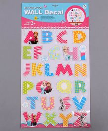 Alphabet Shape Wall Sticker Multicolor - 28 Pieces