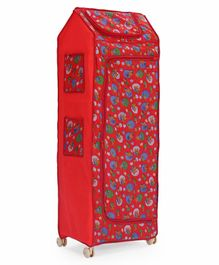 Play Time Big Jinni 5 Shelves Almirah Stars Print - Red